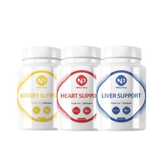 NP Nutrition - Kombipaket Health Line - Kidney + Heart + Liver Support
